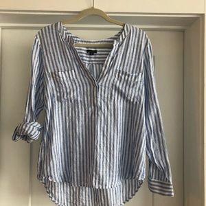 Linen striped shirt Ann Taylor